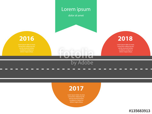 500x375 Straight Road Template With Colour Stickers For Your Text