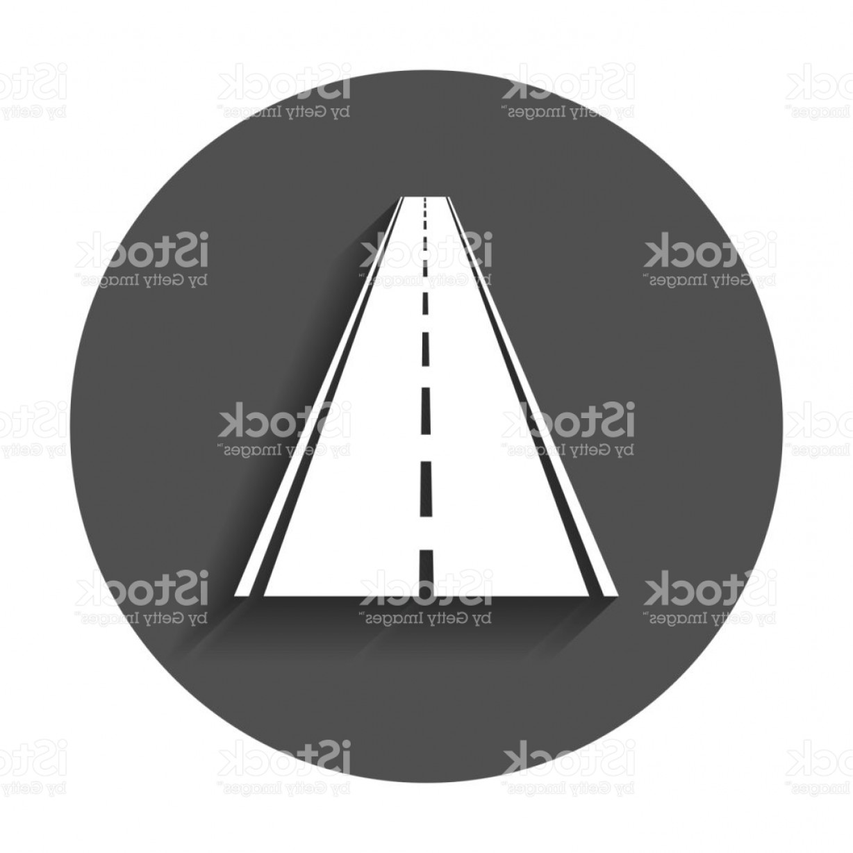 1228x1228 Straight Road With White Markings Vector Illustration Highway Road