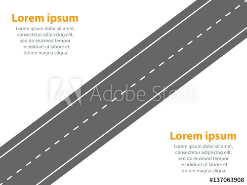 500x375 Infographic Template. Straight Road Travel Or Movement Concept