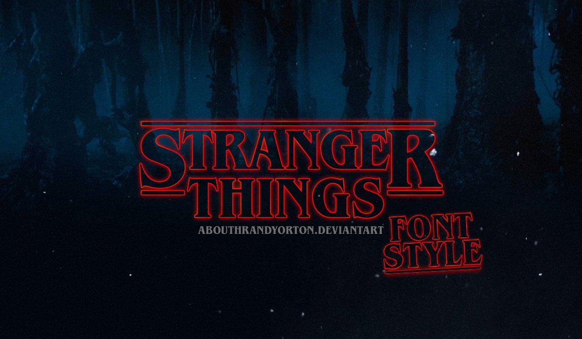 1171x683 Stranger Things Font + Style By Abouthrandyorton