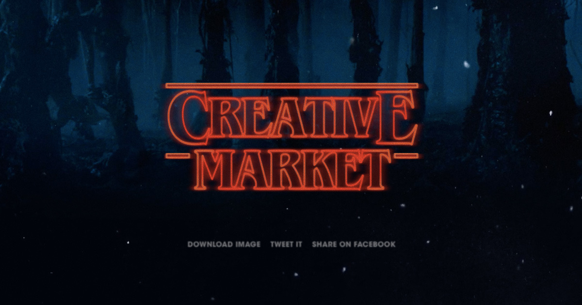 1200x630 Build Your Own Stranger Things Logo With This Type Generator