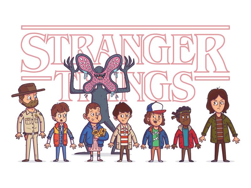 800x600 Illustration Stranger Things Family Print By Rocky Roark