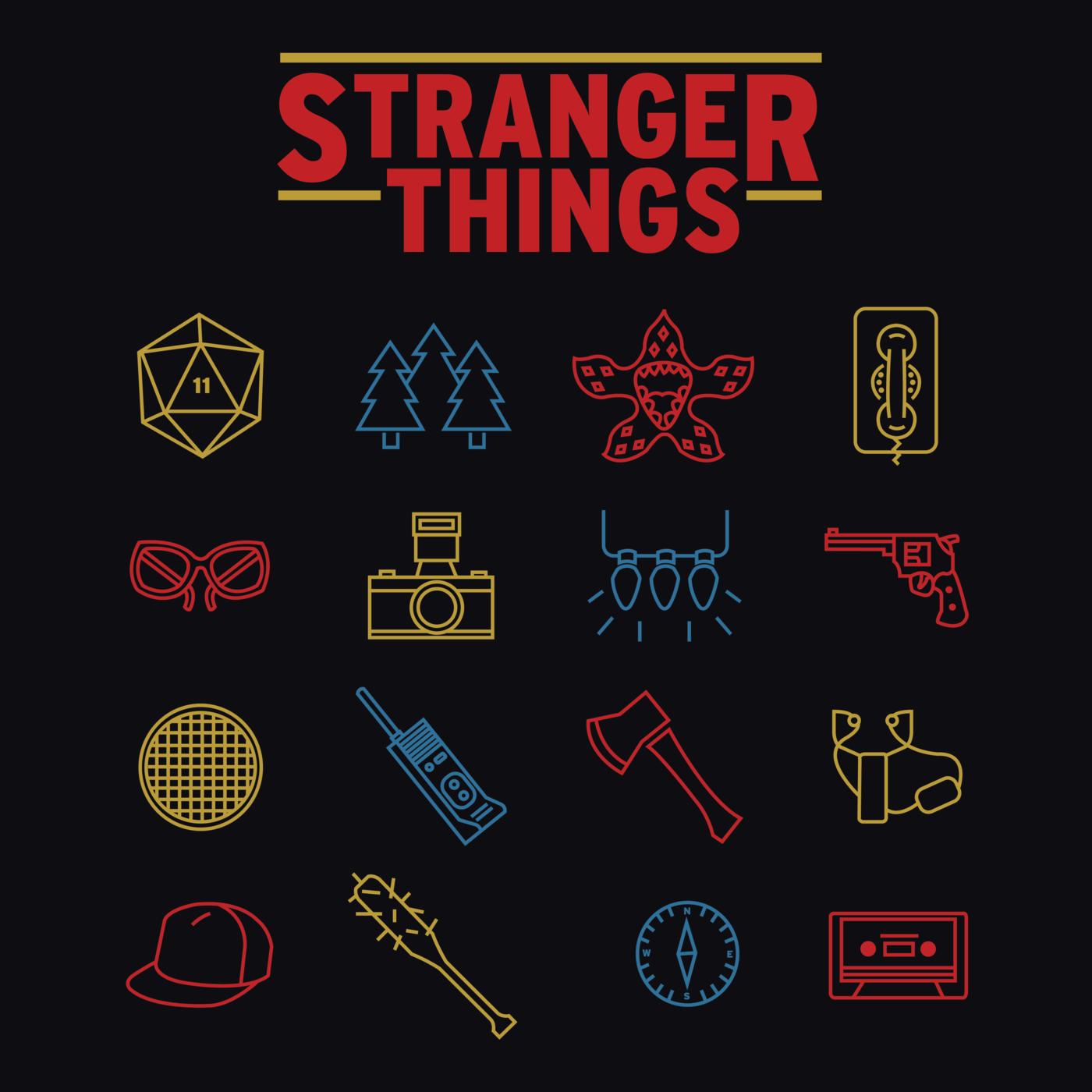 1400x1400 Stranger Things Print By Dominic Mitrano