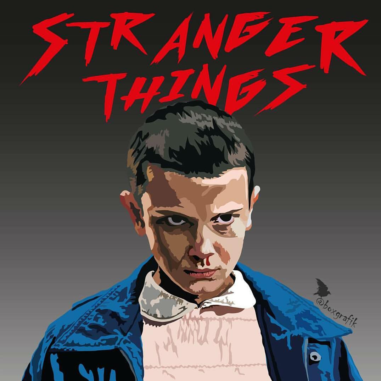 1075x1074 Stranger Things Vector Graphic Illustration