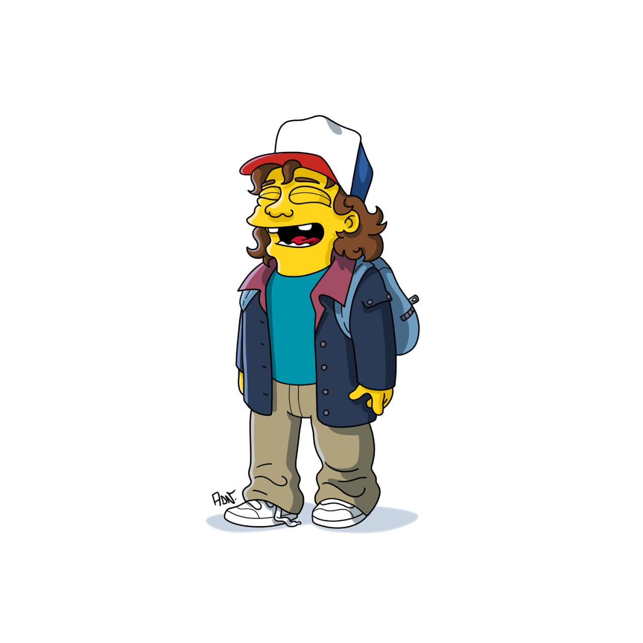 1280x1280 The Stranger Things Cast And Other Famous Characters, Simpsonized