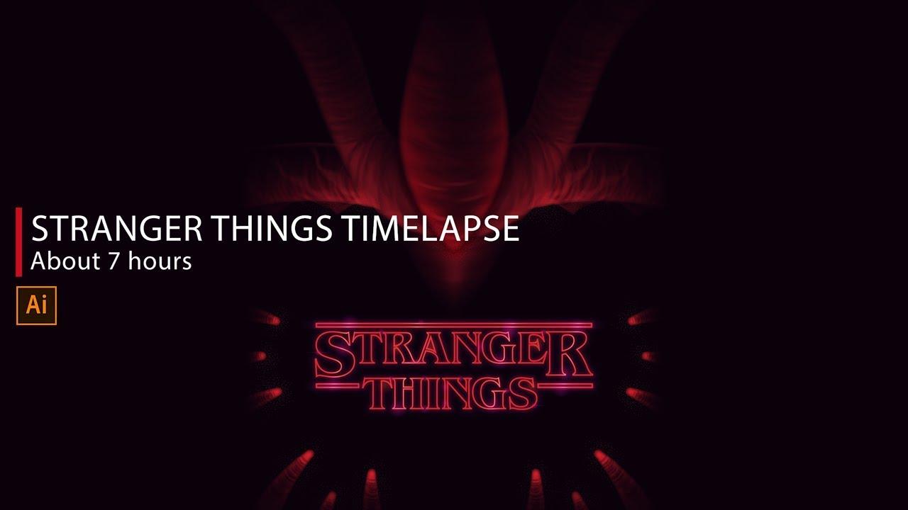 1280x720 Vector Time Lapse Stranger Things Poster (Fan Art)