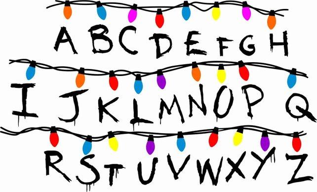 642x389 Archivo De Corte Stranger Things Alfabeto Con Luces Vector Etsy