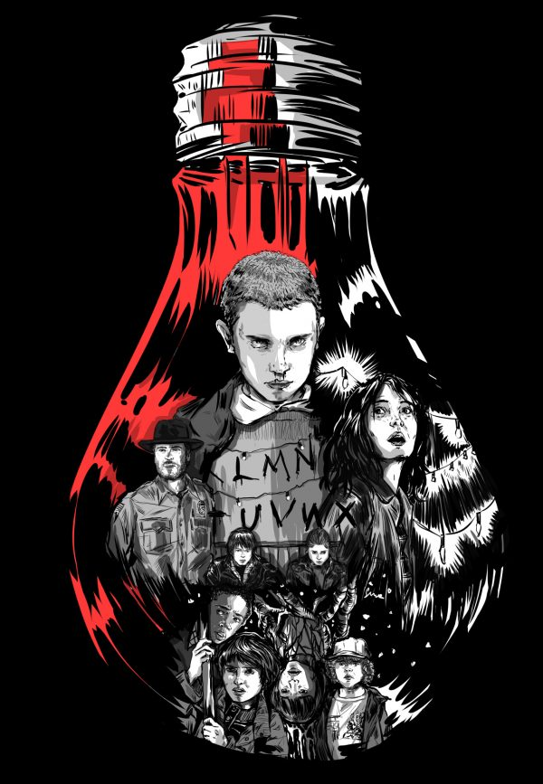 600x867 Awesome Stranger Things Artworks That Will Make Any Fan Giggle