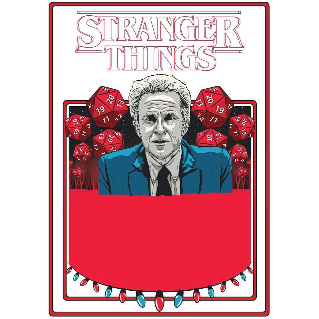 1080x1080 Currently In Progress. A Vector Based Stranger Things Poster