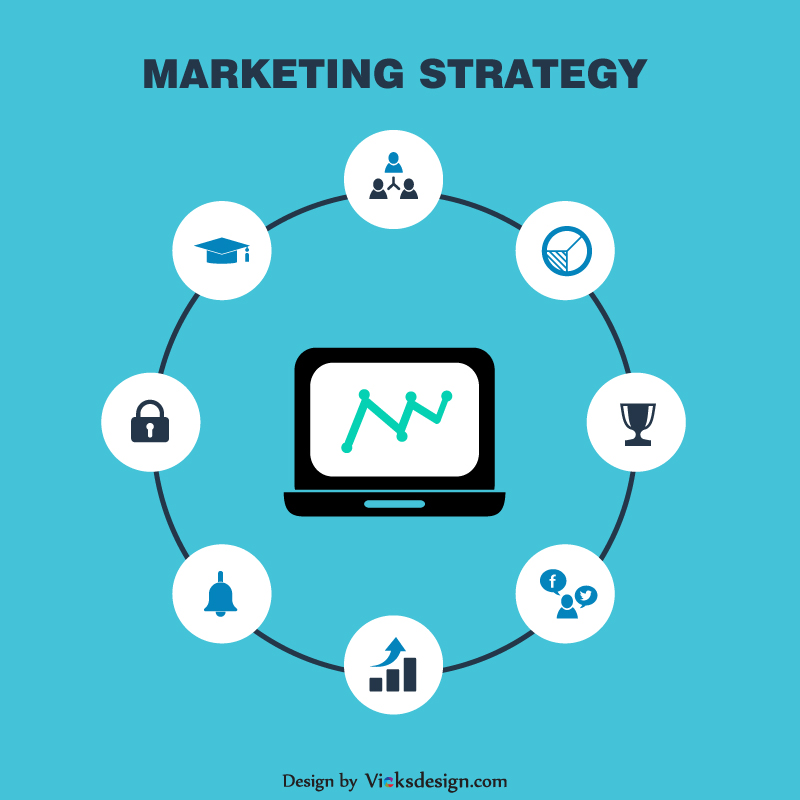 800x800 Marketing Strategy Vector Design