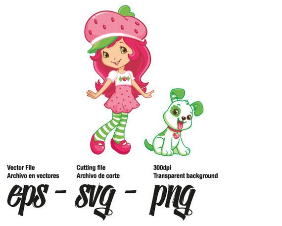 570x456 Strawberry Shortcake Vector Svg Eps For Personal Use Etsy