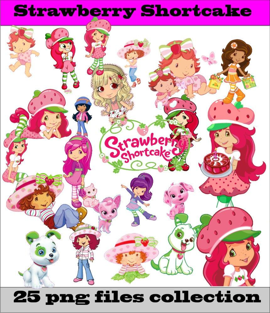 860x999 Strawberry Shortcake Collection Png Vector Instant Download Disney