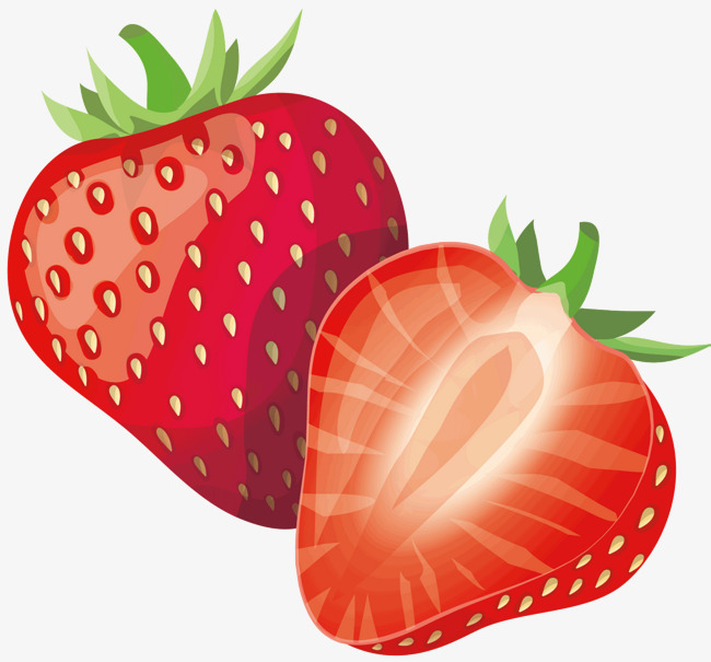 650x605 Strawberries, Vector Diagram, Green Leaves Png And Vector For Free