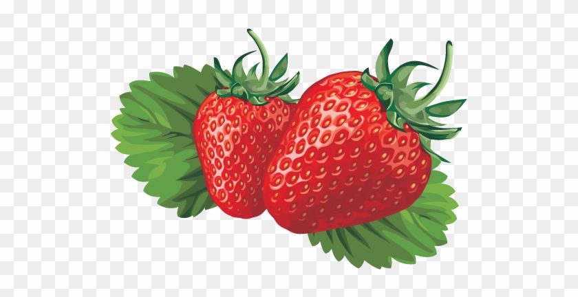 840x432 Strawberries And Milk Vector Posters