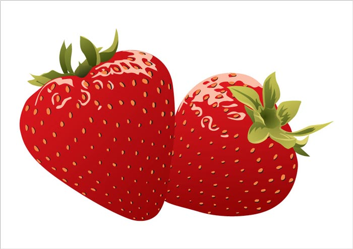 700x494 Strawberries And Milk Vector Posters