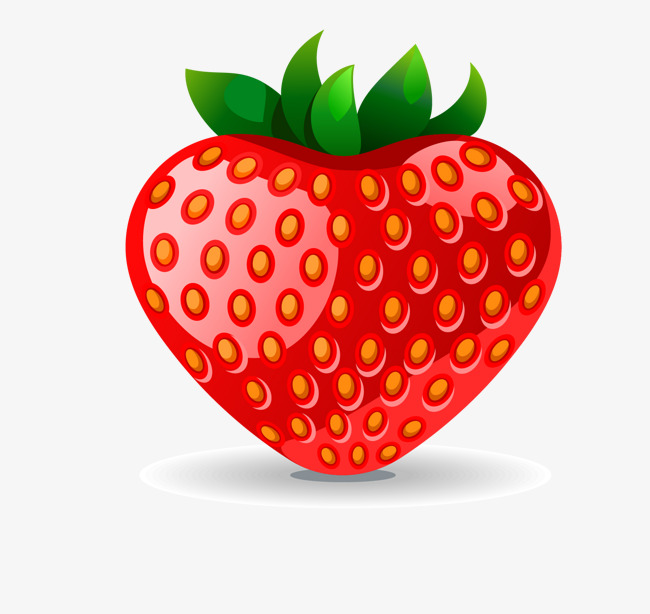 650x614 Strawberry Vector, Fresh Strawberries, Green Fruit Png And Vector