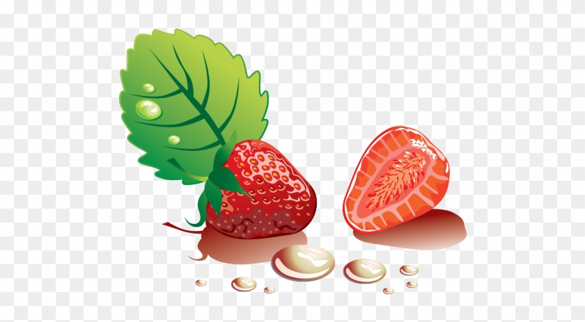 840x463 Strawberry Vector Illustration Free Png Graphic Cave