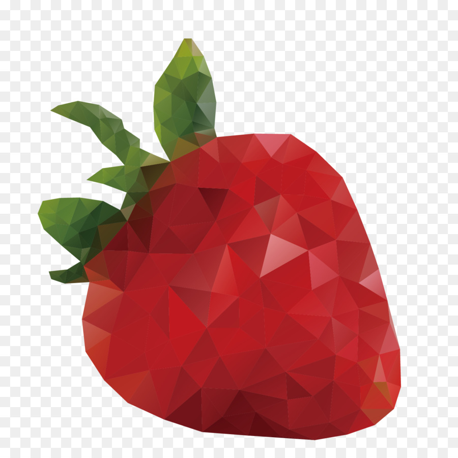 900x900 Download Food Polygon Banana Stereo Red Strawberry Vector
