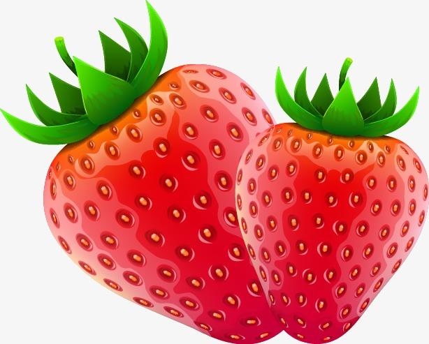 614x493 Fresh Strawberries Vector Material, Fresh Strawberries, Vector