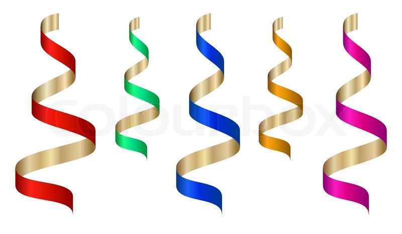800x465 Vector Colored Ribbon Stream Stock Vector Colourbox