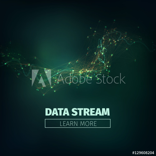 500x500 Abstract Data Stream Vector Background. Technology Futuristic