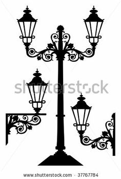 236x348 15 Best Street Lantern Vectors Silhouettes Images In