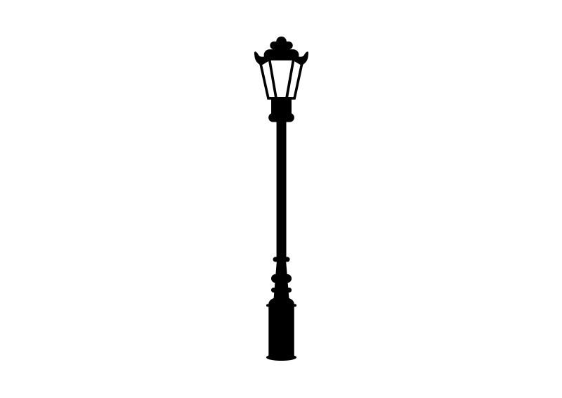 800x566 Retro Street Lamp Vector