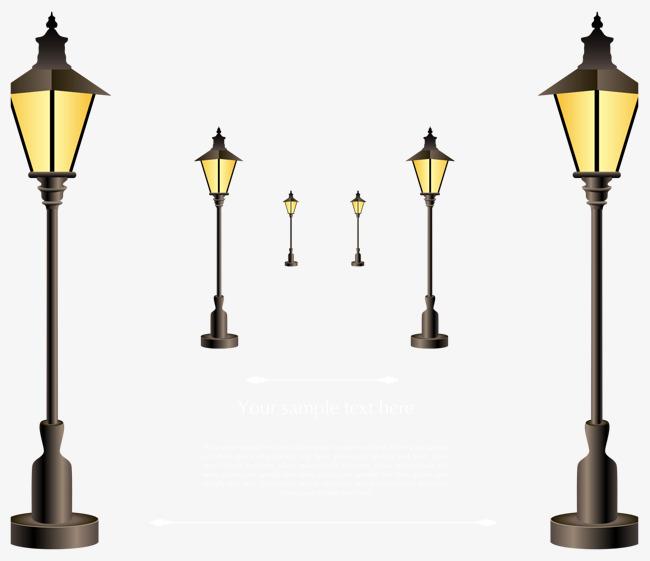 650x561 Shiny Street Light Vector, Light Vector, Symmetry, Street Light
