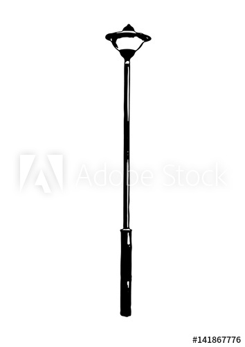 354x500 Silhouette Of Street Lamp Vector.