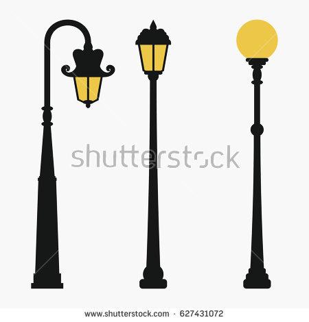 450x470 Street Lamps Set Vintage City Lantern Stock Vector Inside Idea