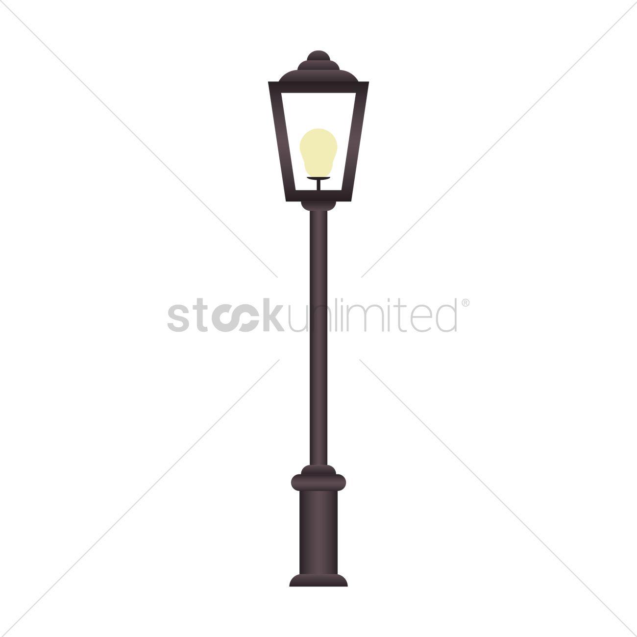 1300x1300 Street Lamp Vector Image