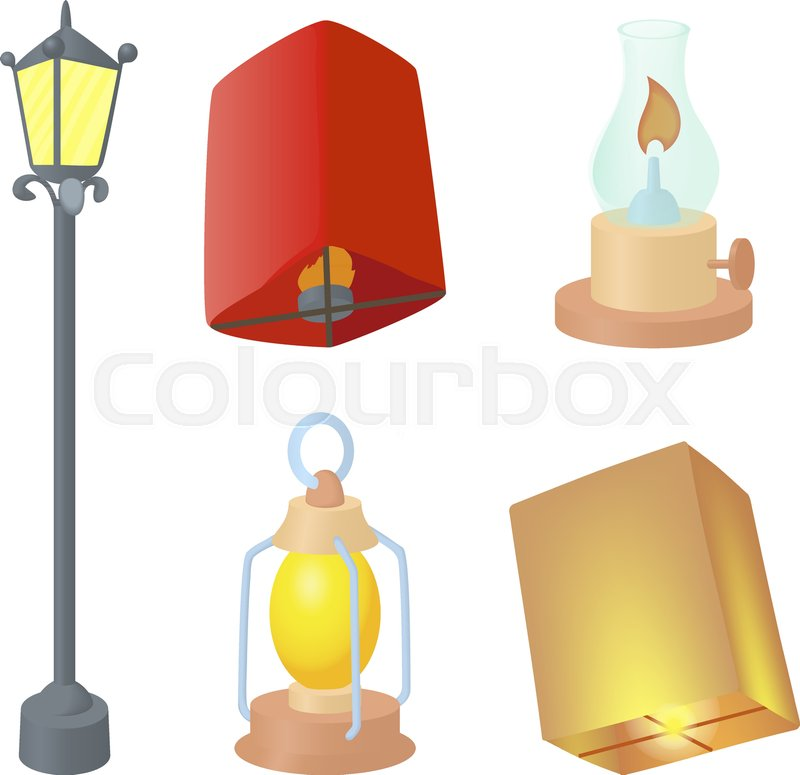 800x775 Street Lamp Icon Set. Cartoon Set Of Street Lamp Vector Icons For