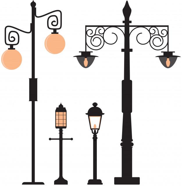 626x638 Vintage Street Lamp Vector Premium Download