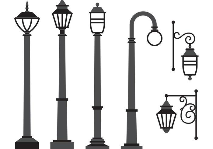700x490 Gas Lamp Vectors