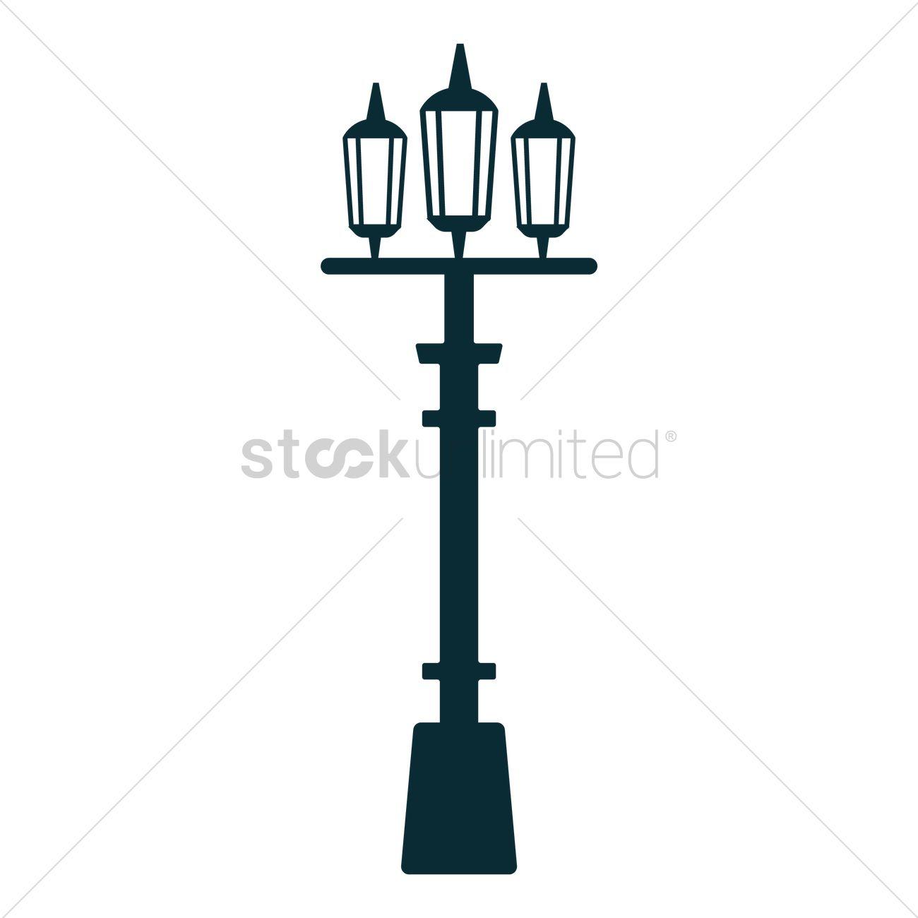 1300x1300 London Street Lamp Vector Image