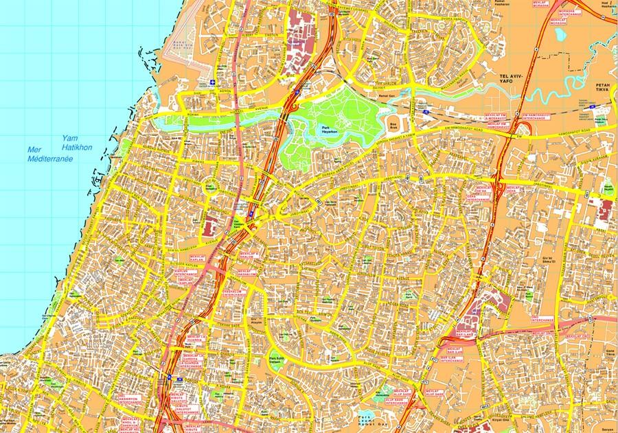 900x631 Find Tel Aviv Vector Map. Eps Illustrator Vector Maps Of Asia