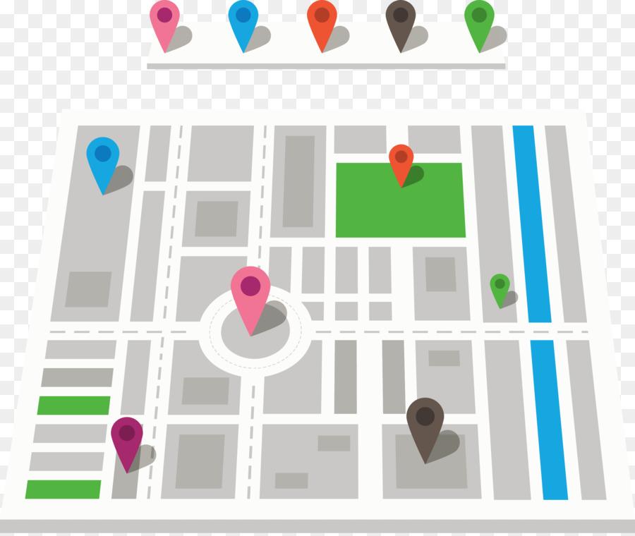 900x760 Gps Navigation Device Map Euclidean Vector Icon