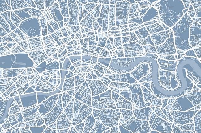 650x432 London England Street Map By Michael Tompsett