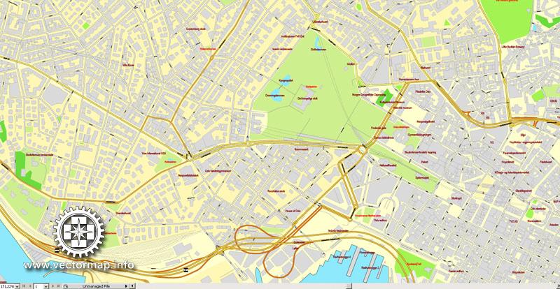 800x414 Oslo City Map Oslo Map Vector Printable Detailed City Plan
