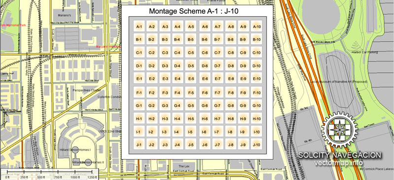 800x366 Printable Street Map Of Downtown Chicago Chicago And Suburbs Map