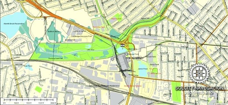 800x369 Printable Vector Street Map Part Atlas Full Editable Free Of Nyc