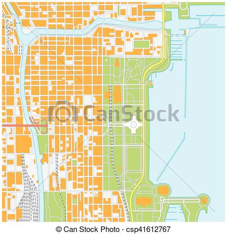 450x463 Street Map Clipart Street Map Of Downtown Chicago Illinois Vector