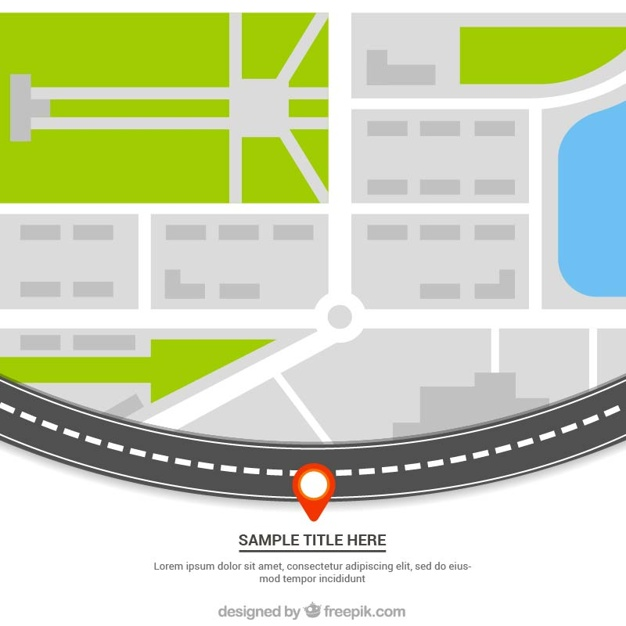 626x626 Street Map Template Vector Free Download