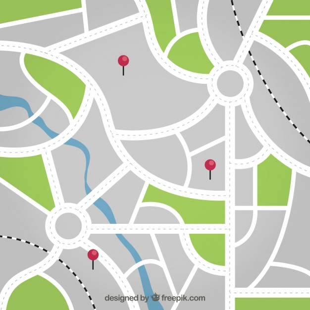 626x626 Street Map With Pins Background Vector Free Download