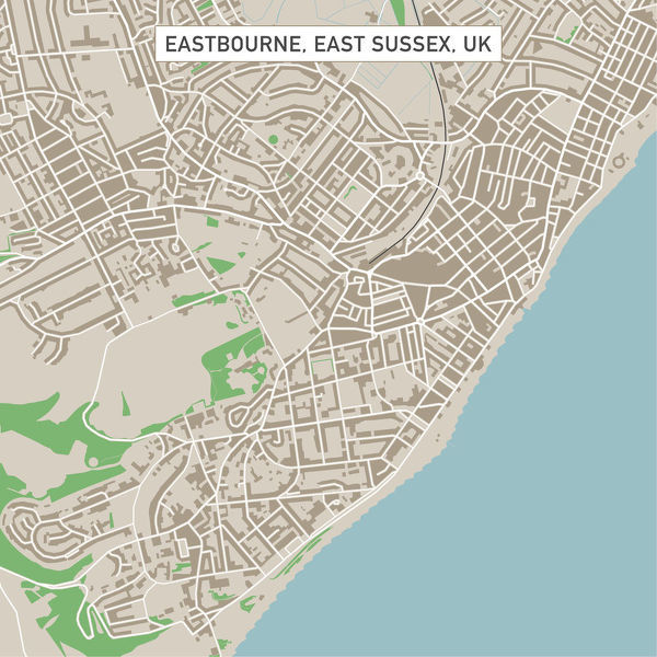 600x600 Eastbourne East Sussex Uk City Street Map