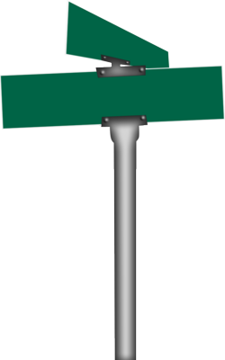 250x400 Old Street Signs Clipart