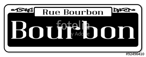 500x197 Rue Bourbon Street Sign Stock Image And Royalty Free Vector Files
