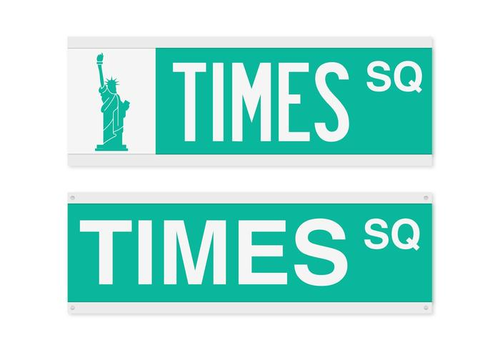 700x490 Times Square Street Sign Vector