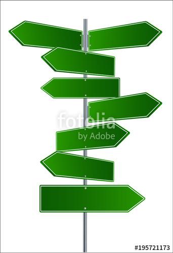 342x500 Vector Street Signs. Vector Illustrationof 3 Way Street Signs