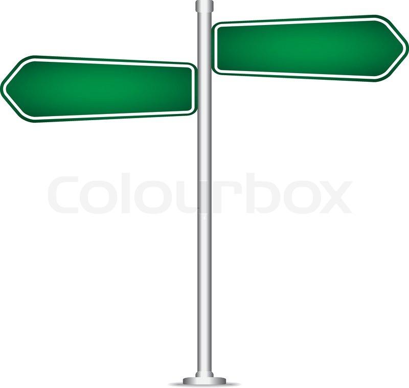 800x759 Vector Pole Sign Road Blank Isolated Stock Vector Colourbox